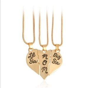Jewelry - Heart Mother/Daughter 14K Gold filled Necklace Set